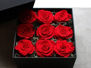 Nine Roses Box Arrangement